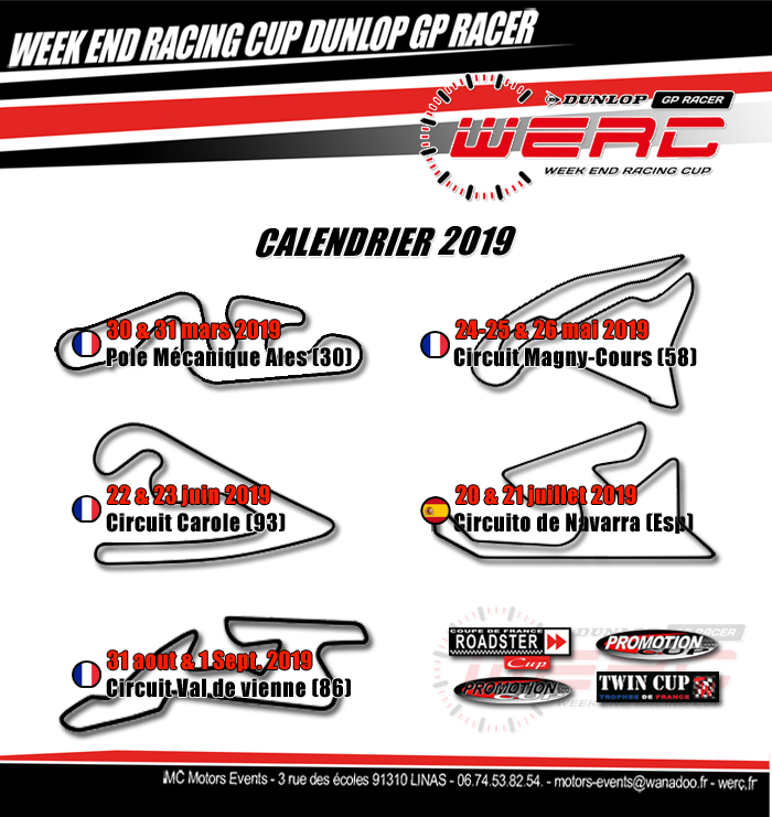 Calendrier Pole.Calendrier 2019 Week End Racing Cup