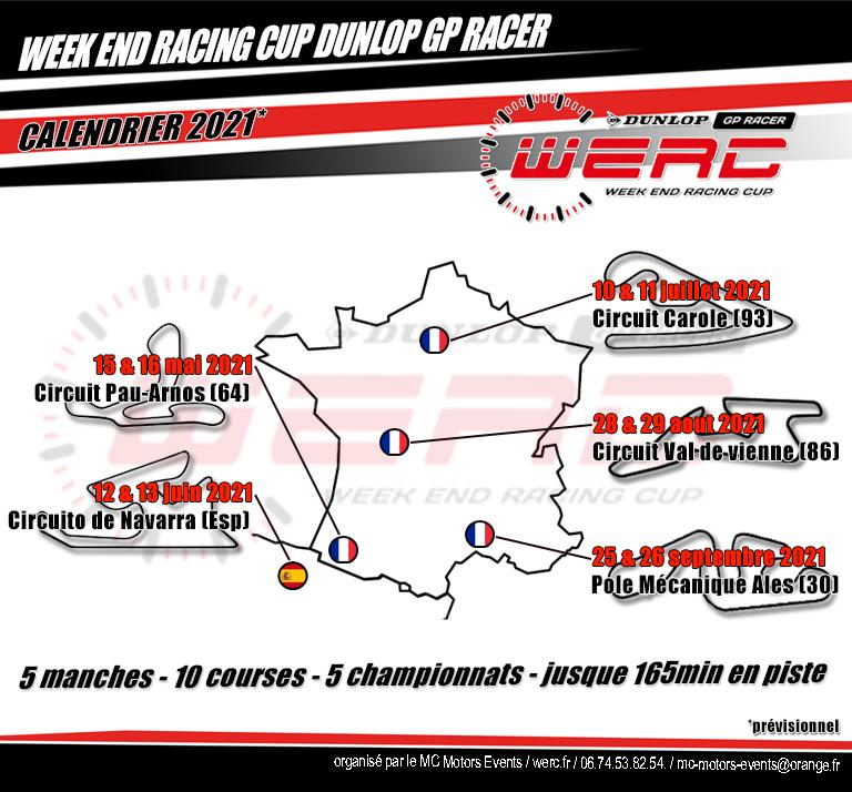 le Calendrier 2021 dévoilé – Week End Racing Cup Dunlop GP Racer